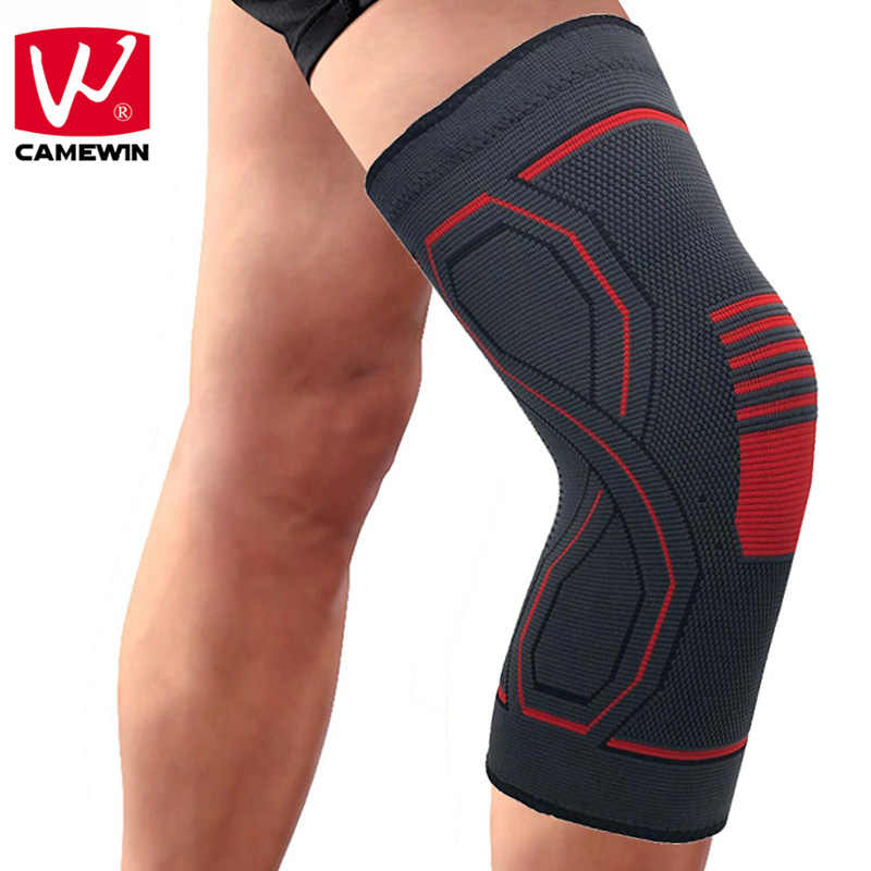 CAMEWIN 1PCS High Elasticity Breathable Knee Pads Knee Protector for Running, Joint Pain Relief, Arthritis and Injury Recovery