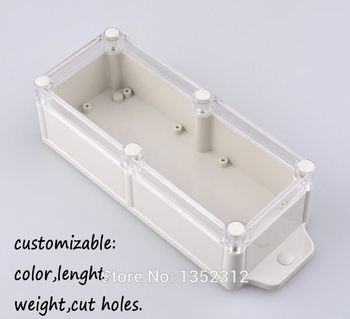 3 pcs/lot 238*84*60mm waterproof plastic box for electronic junction box with belt ears IP68 DIY plc project box control box