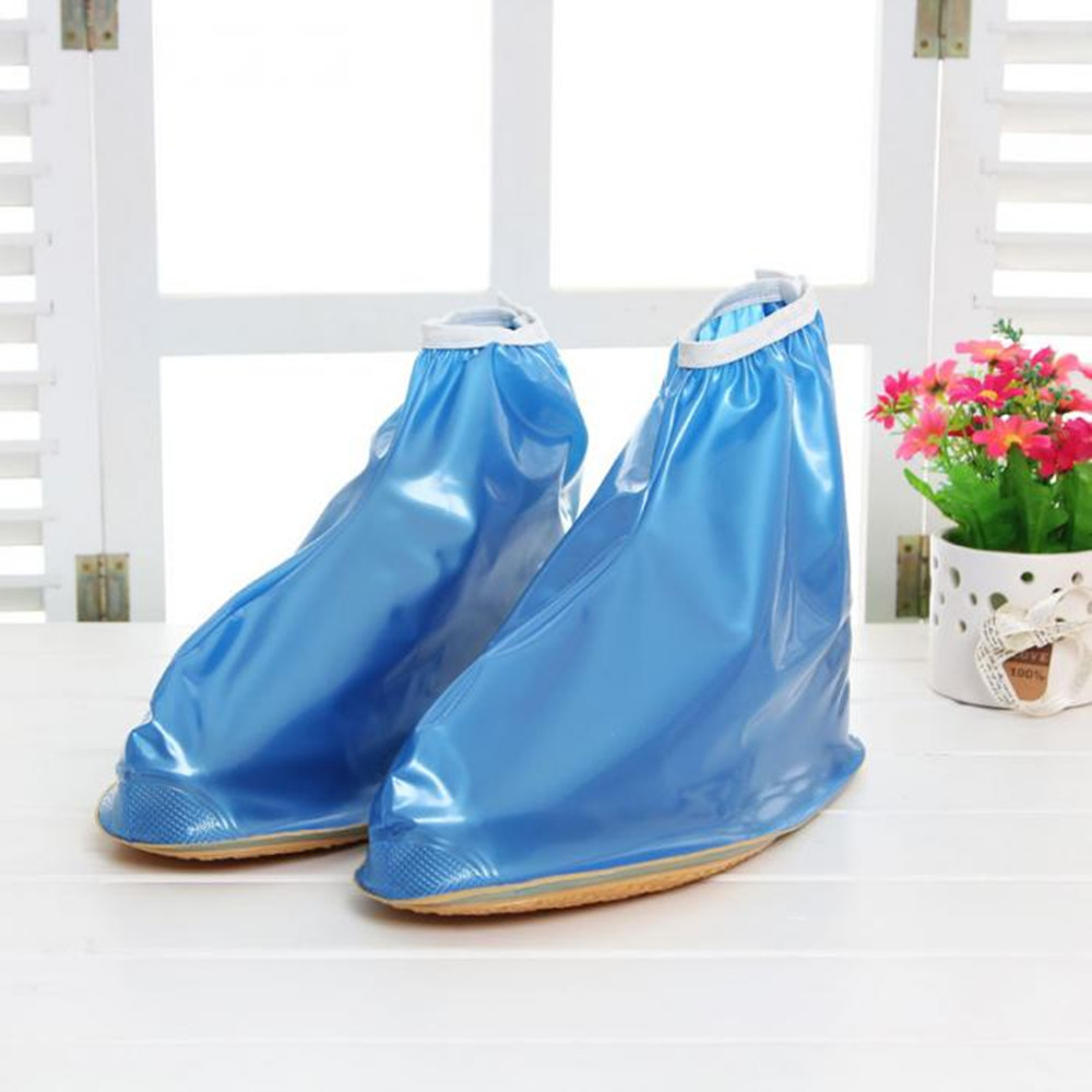 Waterproof Rain Reusable Shoes Covers, All Seasons Slip-resistant Zipper Rain Boot Overshoes, Men&Womens Shoes Accessories
