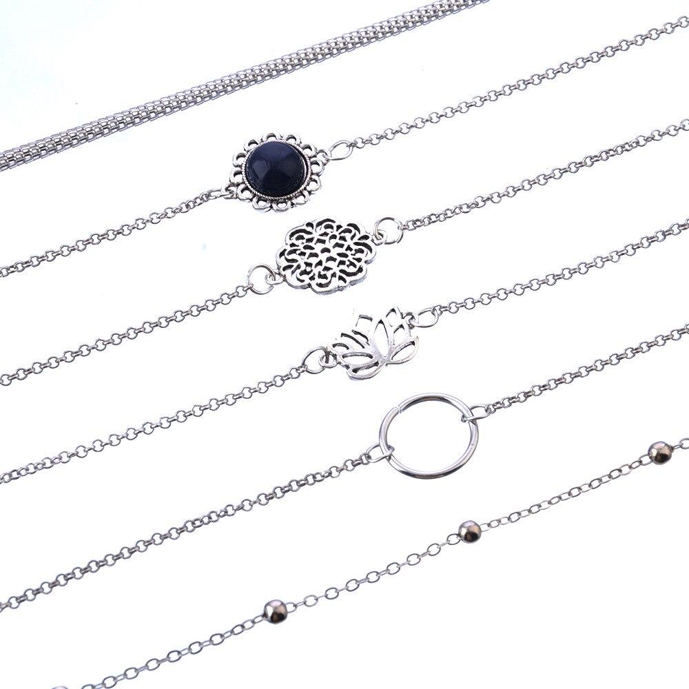 Women's Boho Style Bracelets 6 Pcs Set 5