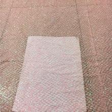Розовый цвет специальный французский чистая кружевная ткань H-67 клееный Блестящий сетчатый материал для симпатичного платья