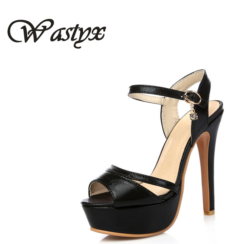 Wastyx New Gladiator Sandals Women Sexy fashion Big Size 34-48 Lady Shoes Super High Heel Women Pumps shoes platform footwear coolcept women high heel sandals platform fashion lady dress sexy slippers heels shoes footwear p3795 eur size 34 43