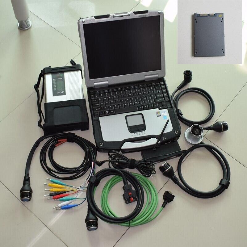 Le plus récent MB Star C5 avec ordinateur portable MB SD C5 logiciel de diagnostic V2018.09 ssd super vitesse + CF-30 p-anultrasons 4g ordinateur portable
