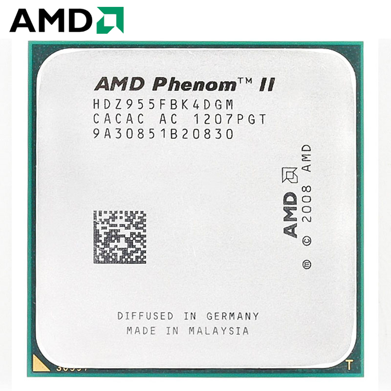 AMD Phenom II X4 955 CPU Socket AM3 125W 3 2GHz 938 pin Quad Core Desktop