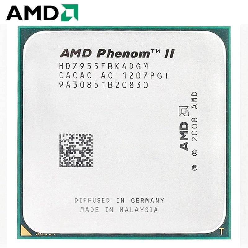 AMD Phenom II X4 955 CPU Socket AM3 125W 3.2GHz 938-pin Quad-Core Desktop Processor CPU X4 955 Socket Am3