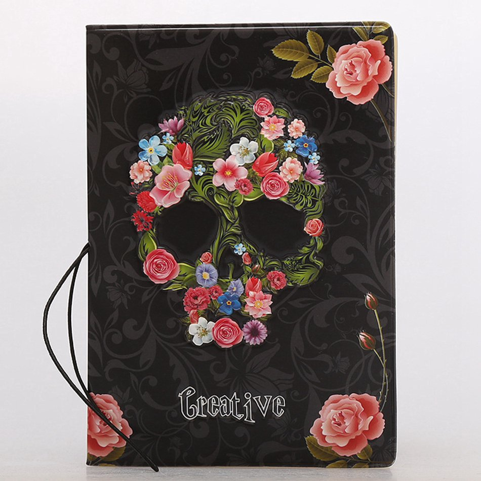 3D Skull Floral PU Leather Passport Cover Wallet Travel Function Credit Card Package Id Holder Storage Money Organizer Clutch travel passport cover wallet travel multi function credit card package trip id holder storage organize clutch money bag h 125