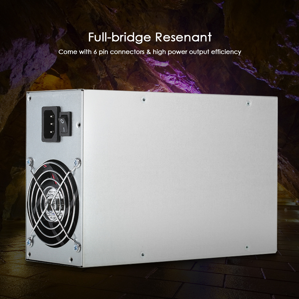 1800W Switching Server Power Supply 90% High Efficiency Mining Machine Power Source for Ethereum S9 S7 L3 Rig Mining mining machine atx power supply 2200w 180 260v switching power supply 90
