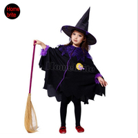 Children S Halloween Costumes Flower Girl Dresses Performance Clothing Christmas Masquerade Witch Cloak Clothes Dressing HW115