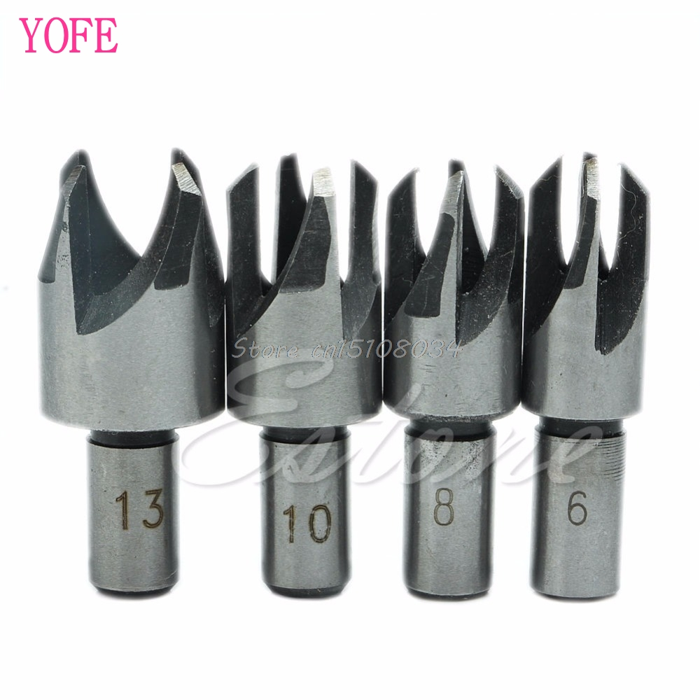 4Pcs Carpentry Wood Plug Cutter Cutting Tool Drill Bit Set 5/8 1/2 3/8 1/4 #S018Y# High Quality тарелка the hundred acre wood 8 5 bm1257