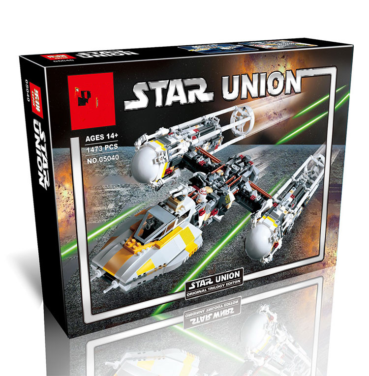the 05040 the Star wars 10134 Y wing Attack fighter toys Wars Building Assembled Block Brick