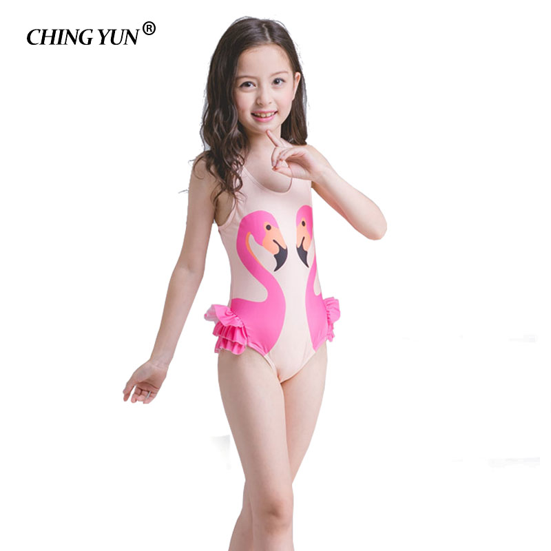 Childrens swimwear One Piece girls Black Swan swimsuit swim cap baby beach sand stalls coat no Underwire animal bathing suit