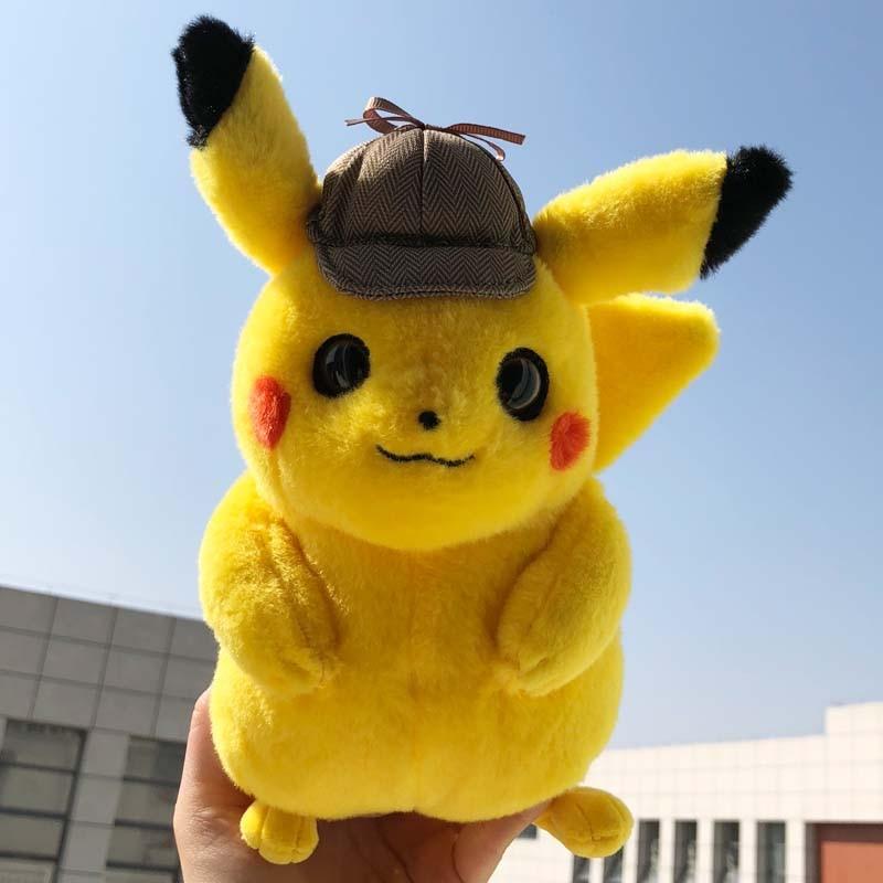 Toys Dolls Pikachu Dark-Lightning Plush Detective Kawaii Children Cute