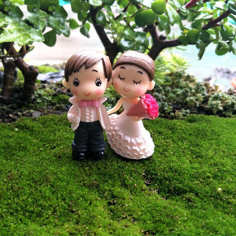 4pcs Wedding Decoration Brides Groom Accessories Fairy Garden ...