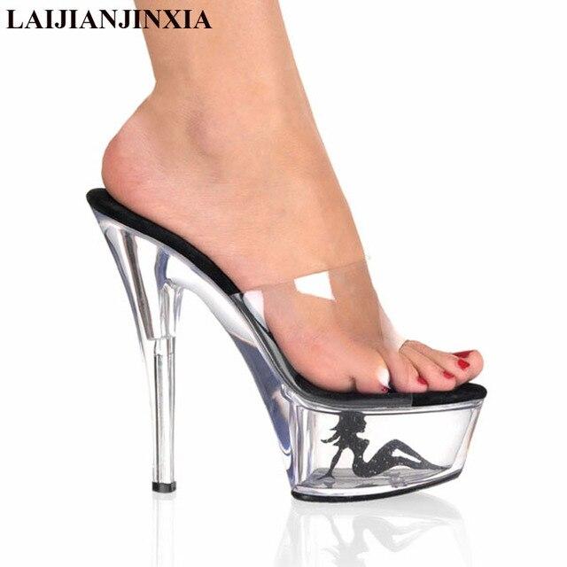 sexy High Heel Hausschuhe