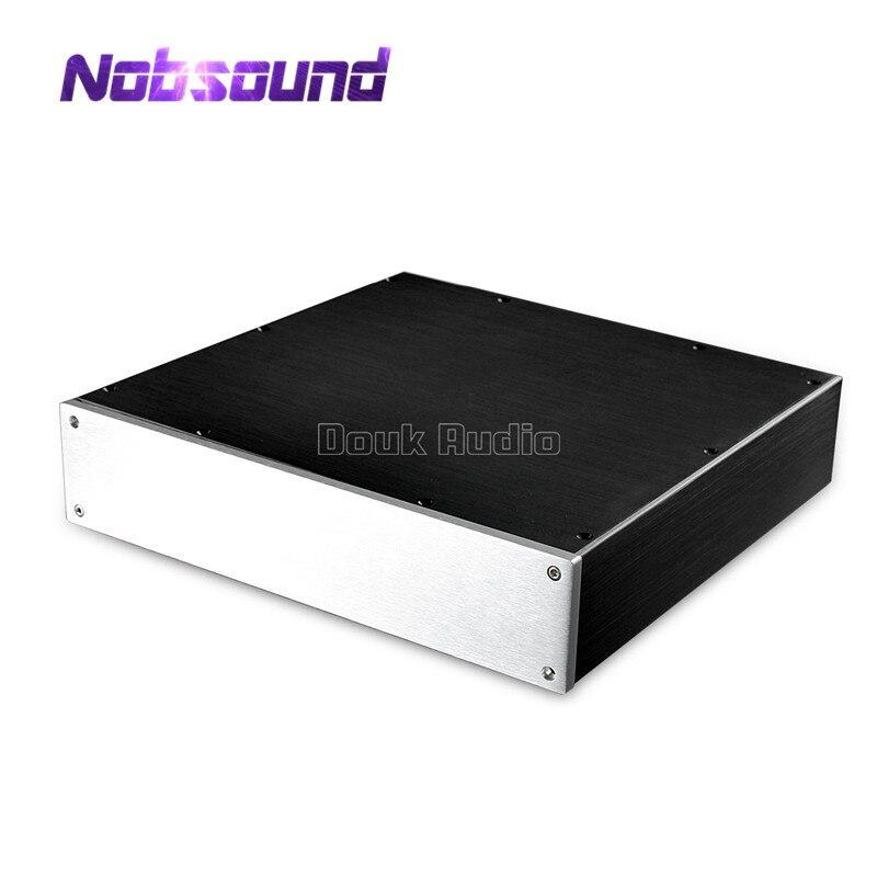 Nobsound Aluminum Case Amplifier Chassis DIY Pre-Amp Enclosure Headphone/DAC Box House pre amplifier chassis large aluminum case dac amp shell diy home audio amp case