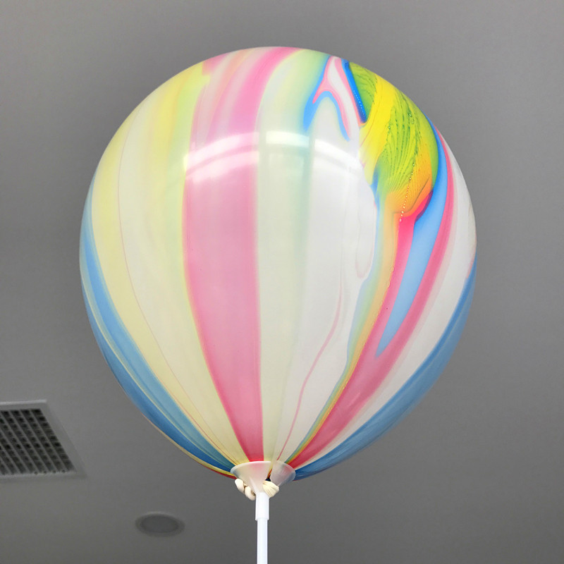 10pcs lot 12inch Thick Rainbow Colored Latex Balloons Birthday Party Wedding Decorations Colorful Inflatable Helium Balloons in Ballons Accessories from Home Garden