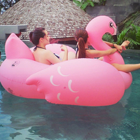 70inch 190cm Giant Inflatable Flamingo Ride On Pool Floating Raw Water Toys Swim Ring for Adult Child Air Mattress Chair Lounger