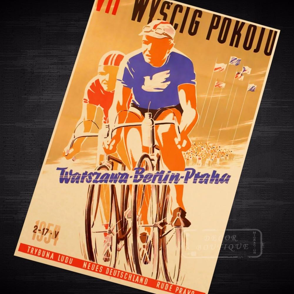 Man Ride Train BICYCLE Vintage Poster Bike Retro Ride Wall Art ...