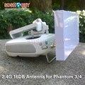 2.4g 16db de alta ganancia reposición direccional antena range extender para dji phantom 3 avanzado/profesional phantom