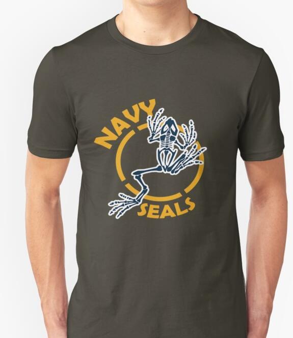 Navy Seals frog skeleton T shirt