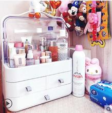 Cosmetic storage box transparent dustproof cosmetic dresser desktop finishing rack