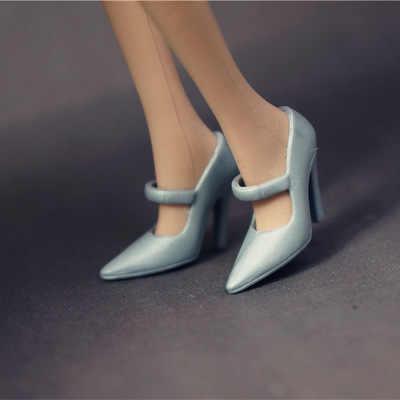 Yeni gelmesi orijinal 1 çift bebek ayakkabı ve aksesuarları Flats yüksek kaliteli moda ayakkabılar için barbie bebek 1/6