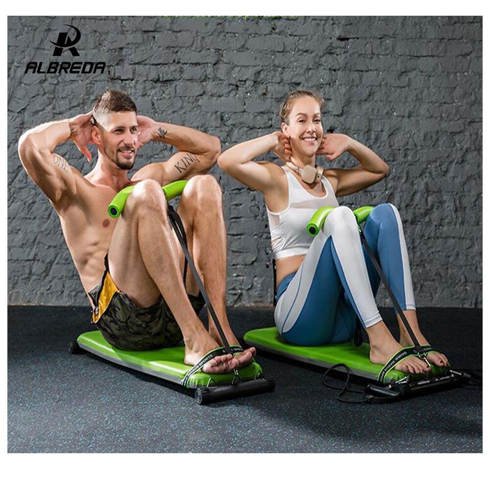 ALBREDA NEW Fitness Machines Pour La Maison Sit Up Banc Abdominal Conseil de fitness corde de Traction abdominale Exerciseur Équipements Gym Formation