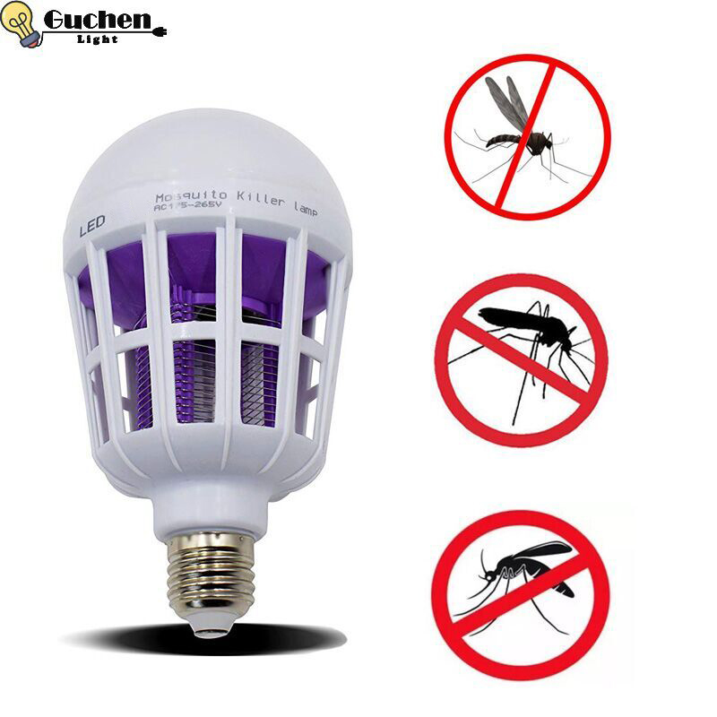 Electronic Insect Killer/Mosquito Zapper Lamps Fly Killer E27 LED Bulb Socket Base Home Indoor Outdoor Garden Patio Backyard UV