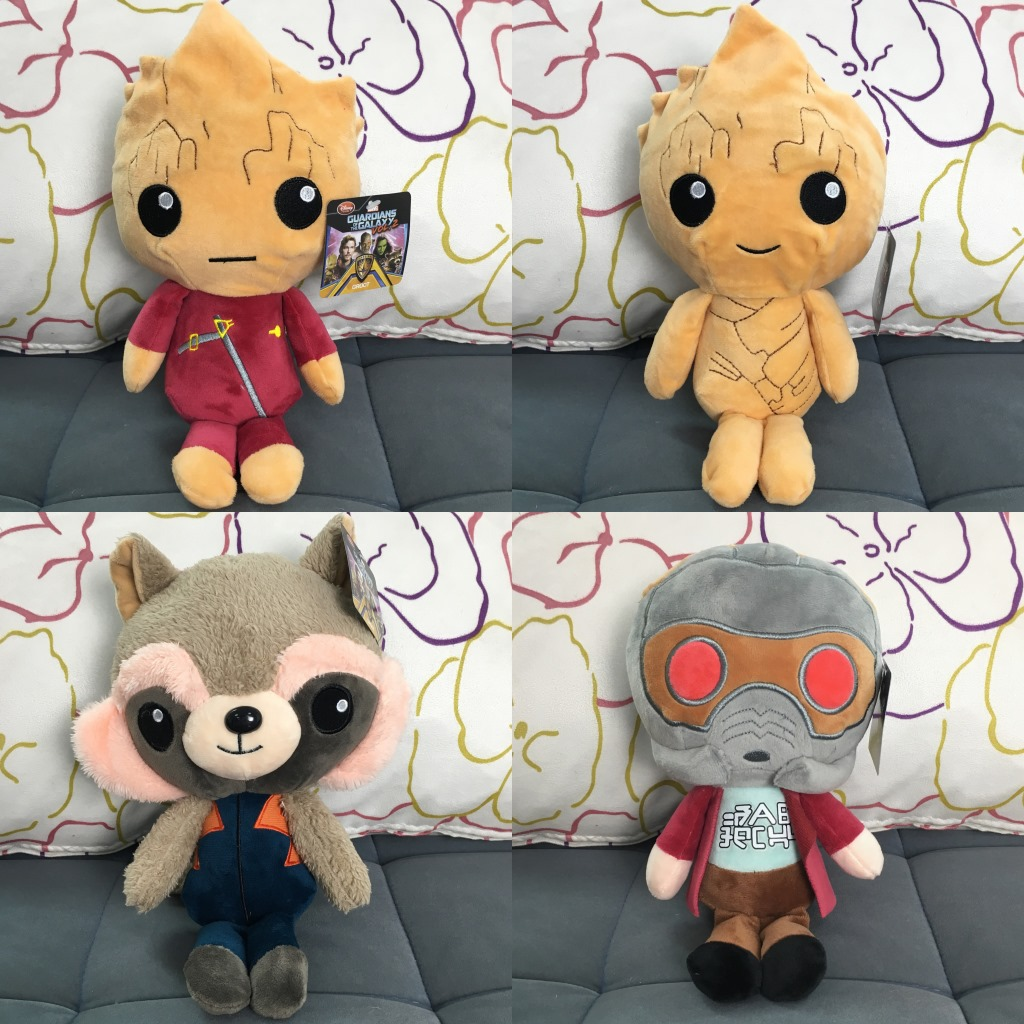 4 Pcs/lot 22cm Movie Guardians Of The Galaxy 2 Ents Tree Man Rocket Raccoon Plush Toy Soft Stuffed Toys Doll for Kids Children