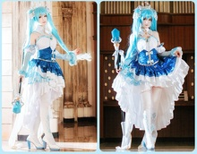2019 New Vocaloid Hatsune Miku Cosplay Costume Snow Fancy Dress Full set Carnival Halloween Costumes for Women S-XL
