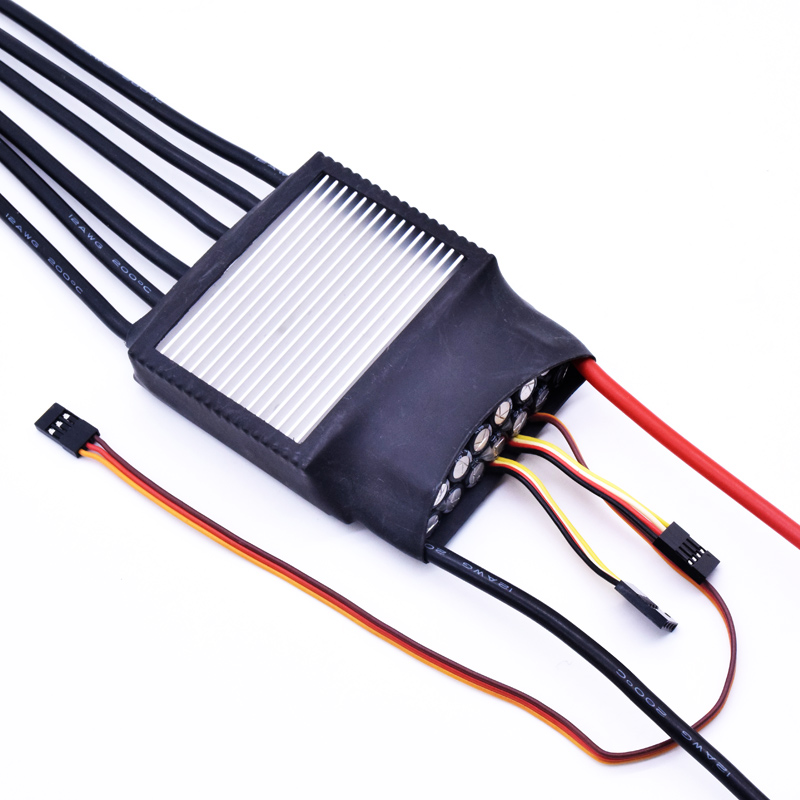 FATJAY FLIER 150A 2-12S Dual Drive Two Motors 2-way ESC Brushless Speed Controller With Power Switch For Electric Skateboard