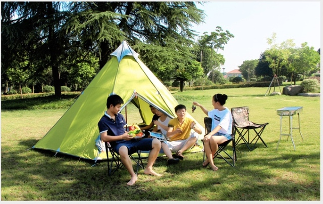 FREE SHIPPING NYLON fabric outdoor large c&ing tent family tentteepee tent tipi & FREE SHIPPING NYLON fabric outdoor large camping tent family tent ...