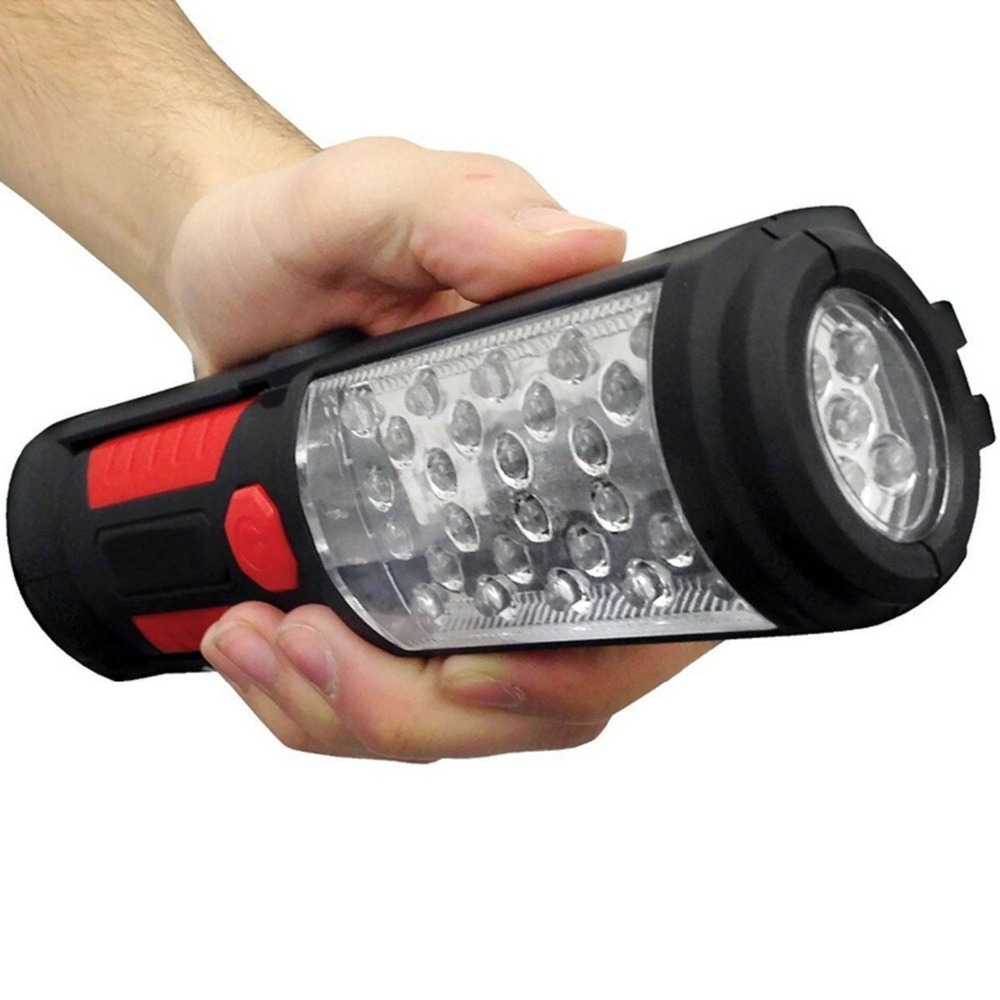 Super Bright New 36+5 LED Flexible Hand Torch Work Light Magnetic Inspection Lamp Flashlight Torch Battery Powered