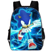 Gorąca sprzedaż Cartoon super mario bros Sonic plecak dla dzieci przedszkole tornister dzieci drukowanie plecak dziewczyny chłopcy Mochila tanie tanio Plecaki Miękki uchwyt Wnętrza przedziału Kieszeń na telefon komórkowy Wewnętrzna kieszeń Wnętrze slot kieszeń NYLON