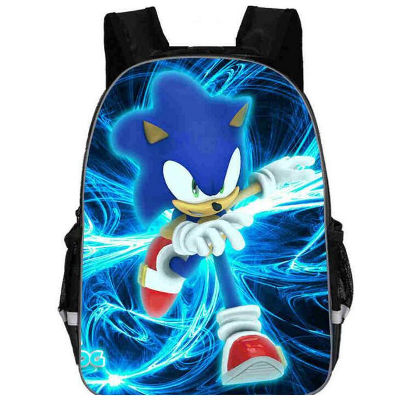 Hot Sale Cartoon Super Mario Bros Sonic Kids Backpack Kindergarten School Bag Children Printing Backpack Girls Boys Mochila