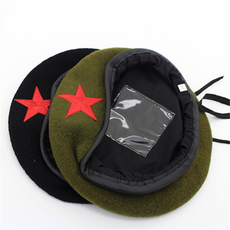 High Quality Wool Berets fashion Army cap Star Emblem Sailor Dance  Performance Hat Trilby chapeau for men women unisex GH 400 en Boinas de  Accesorios de ... b12b1b99b47