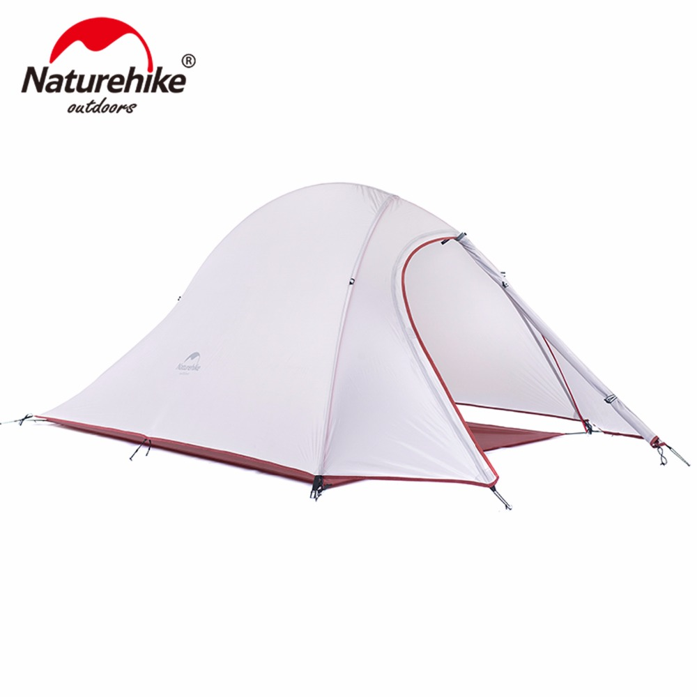 NatureHike waterproof Camping Tents 1-2 Person travel hiking Outdoor Silicone tents Double layer Aluminum Rod ultralight tent yingtouman outdoor 2 person waterproof double layer tent fiberglass rod portable ultralight camping hikingtents