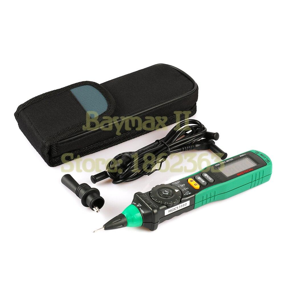 Mastech-multimètre numérique de Type stylo à balayage automatique, avec détecteur de tension AC sans contact