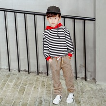 Children Clothes Corduroy Trousers Boys Spring Autumn Animal Print Trousers Casual Outwear Trousers Kids Clothing