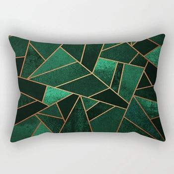 Vintage Geometrica Divano Fodere per Cuscini Europeo Smeraldo di Rame Blu Rosa Grigio Pietra Triangoli Coperte e Plaid Coperture per Cuscini Decorazione 30x50 cm