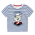 BK-484, 4 шт./лот, popeye, летние Дети мальчик футболки, с коротким рукавом мультфильм полосой tee