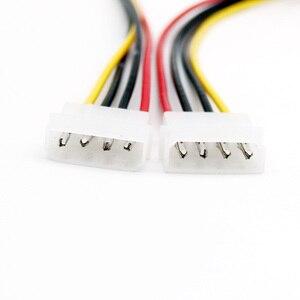 Image 2 - 20x4 핀 lp4 molex male 4 핀 male 플러그 전원 연장 어댑터 커넥터 케이블 30 cm/1ft
