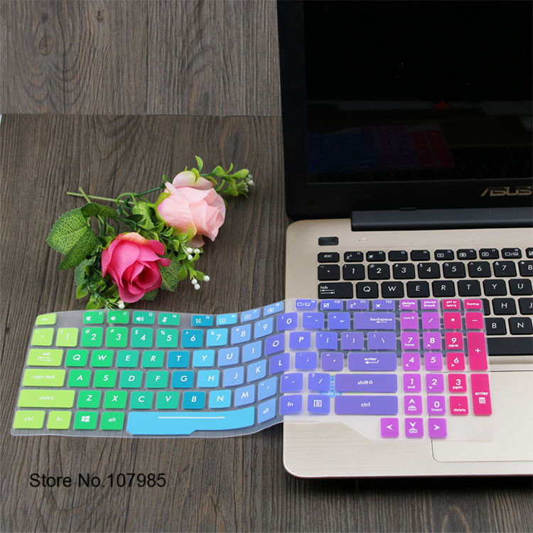 Silicone Keyboard Skin Cover Protector for Asus V587Un Zx50Jx Zx60Vm R558Uv Rog Strix S5 R557Li R513C Vm510Lf5500 Vm510L5005 Gradual Green