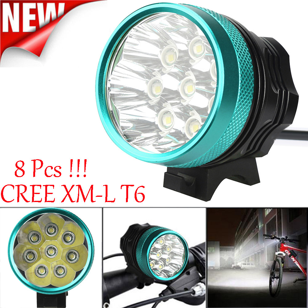 Delightful Colors And Exquisite Workmanship Ishowtienda Flashlight For Bicycle Frame 18000 Lm 8x Cree T6 Led 3 Modes Bicycle Lamp Bike Light Headlight Cycling Torch Front Famous For Selected Materials Novel Designs