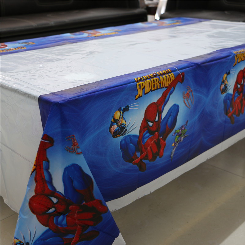 1pcs Spide Man Plastic Table Cloth Table Cover Waterproof Disposable  Tablecloth Kids Girl Birthday Party Wedding Home 180*108cm In Disposable  Party ...