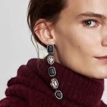 HOMOD 2019 New Layer Fashion Wedding Bohemian Drop Earrings Women Jewelry Hot Sale Trendy Dangle Statement Long