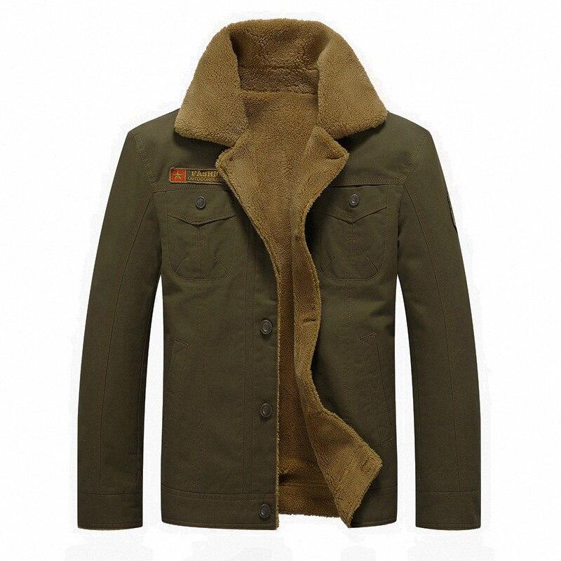 New Parka Men 2019 Autumn Winter Bomber Jacket Air Force Pilot Jackets Windbreak Military Mens Coats Plus Size 4XL 5XL