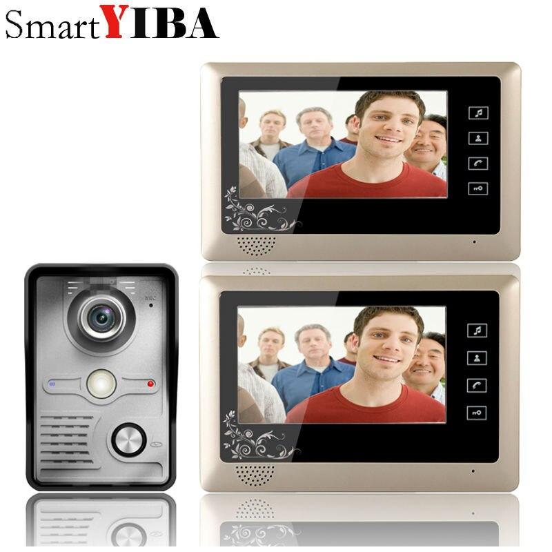 SmartYIBA 7 Inch Touch LCD Display Video Door Phone Doorbell Home System Video Handfree Intercom Visual Bell Kits
