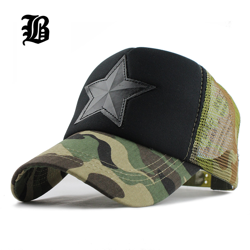 [FLB] छलावरण मेष बेसबॉल टोपी स्वैग स्नैपबैक डेजर्ट Camo Hat for men