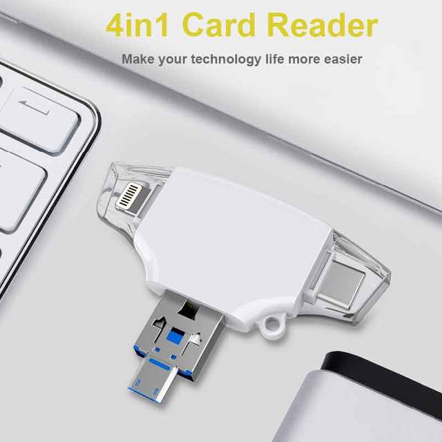 Ingelon SD Card Reader de memoria sd micro Adapter carte sd Type C OTG Memory Cardreader For adaptador iphone Samsung MacBook 2